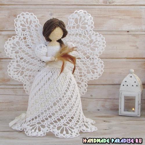 Ажурные ангелы крючком. Идеи