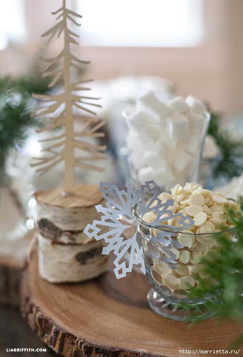 Шаблоны снежинок. Идеи применения снежинок в декоре.