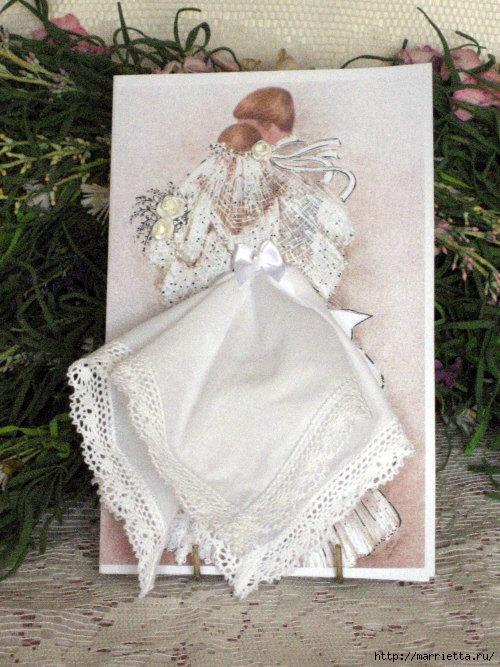 Винтажные открытки с дамами в юбках из носовых платков шаблоны, мама дочка