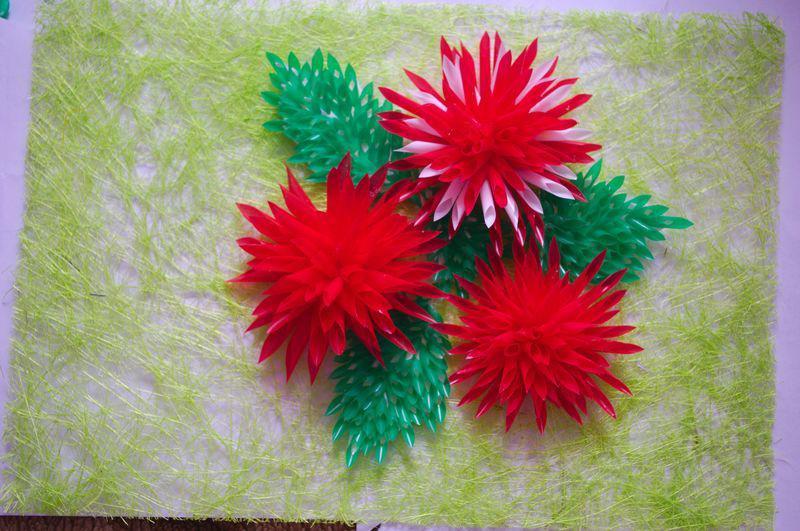 Цветок из трубочек для коктейля своими руками для детей 93