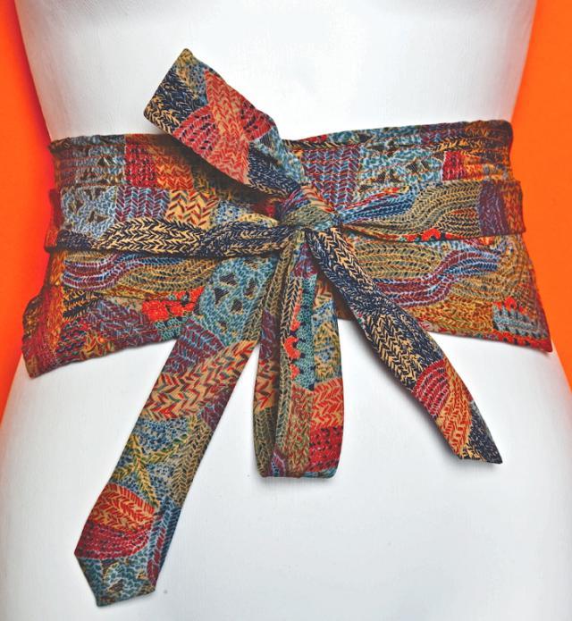 Пояс - оби из мужских галстуков