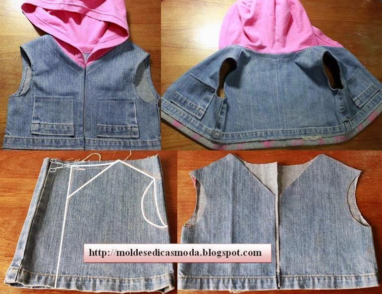 Сшить детям из старых джинс