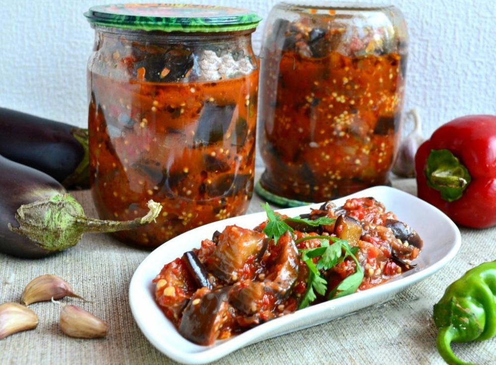 Салаты из баклажан - простые рецепты салатов на зиму без 11