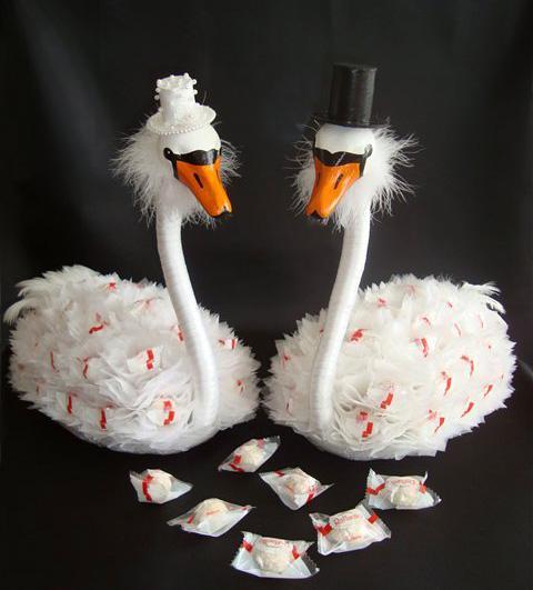 Свадебные конфетные «Лебеди»