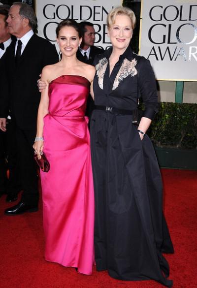 длинное платье-рубашка в вечернем выходе Meryl Streep