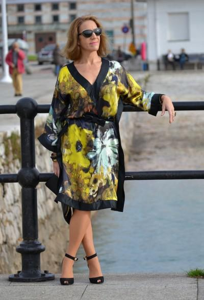 повседневное платье-кимоно