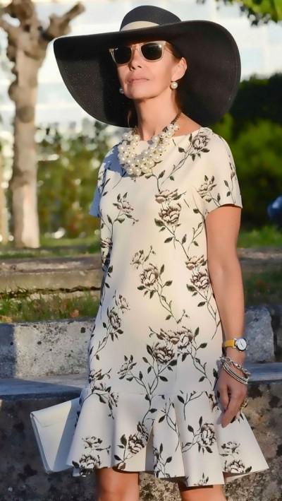 платье с юбкой-годе в женственном сете