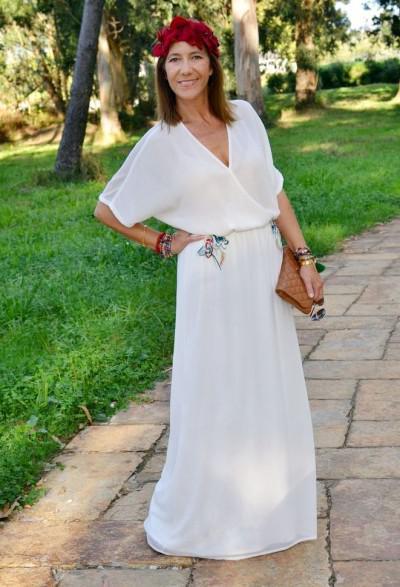 платье макси в греческом стиле