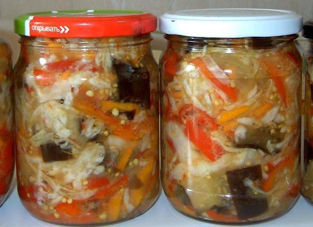 кабачки баклажаны цветная капуста рецепт