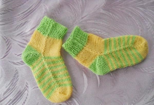 Способ вязания носков с носка 25