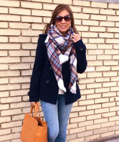 шарф как аксессуар на зиму