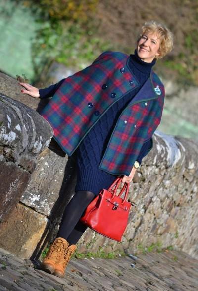 вязаное платье для 50-летней