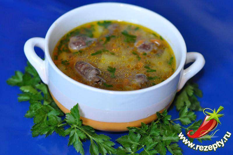 суп из куриных потрохов рецепт с фото верхней