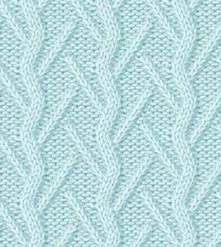 Плетенка узор для вязания спицами 986