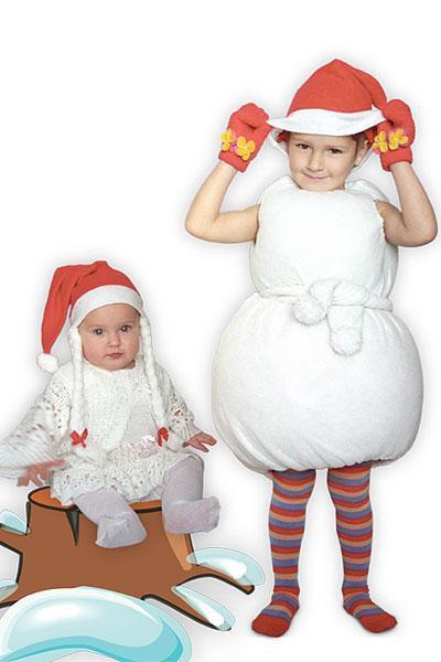 Как сшить костюм снеговика - 8 вариантов