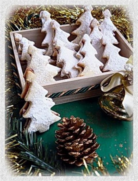Печенье «Заснеженные ёлочки»