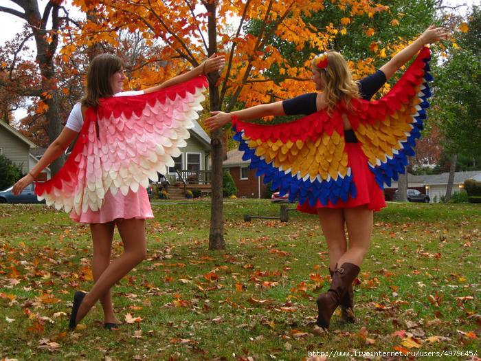 Крылья жар-птицы и платье совы (мастер-класс)