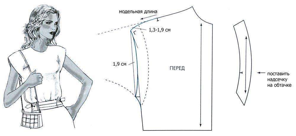 Как сшить блузку реглан своими руками быстро и без выкройки 44