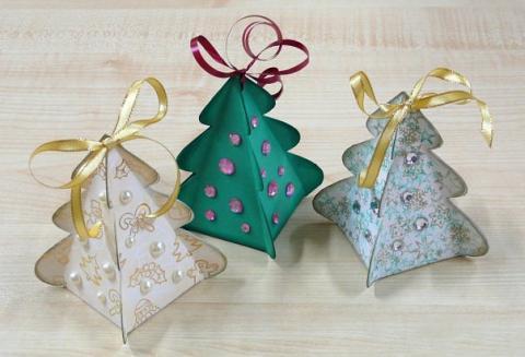 Новогодние ёлочки-коробочки !