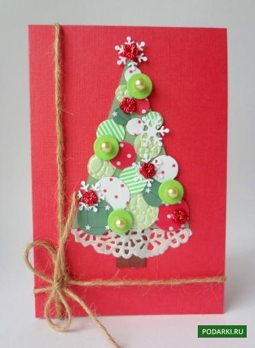 Новогодние открытки своими руками!
