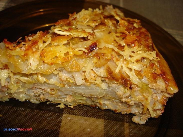 Картофельно капустная запеканка в духовке