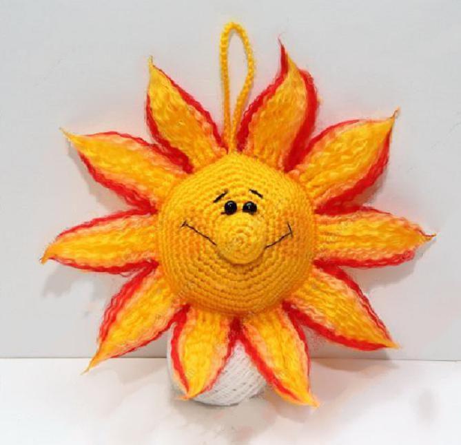 Вязаное солнышко - подробный мастер-класс