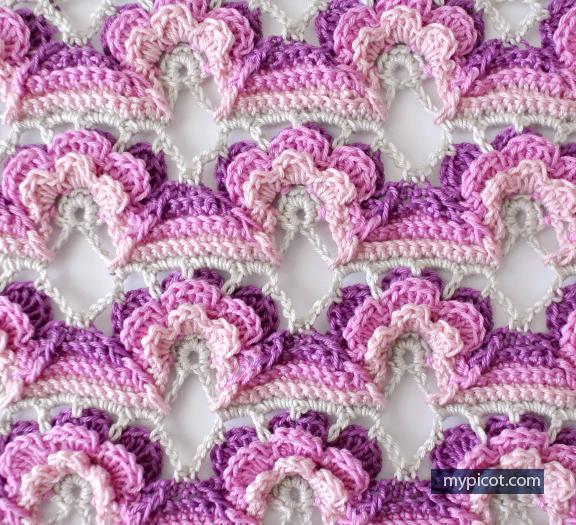 Цветочный мотив - вязание крючком