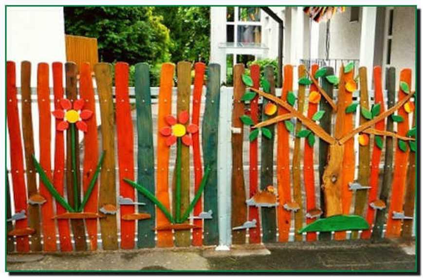 Из чего сделать декоративный забор своими руками
