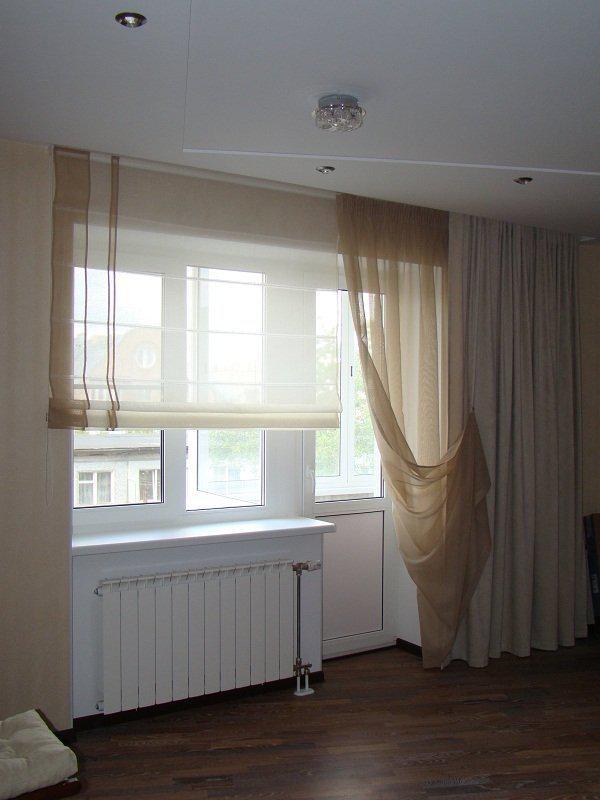 Оформление окна с балконной дверью - всё о балконе.