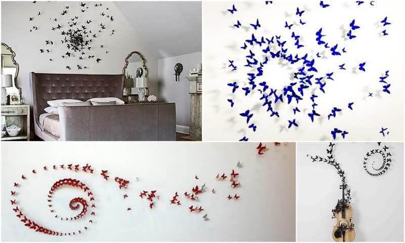 Дизайн интерьера с бабочками своими руками