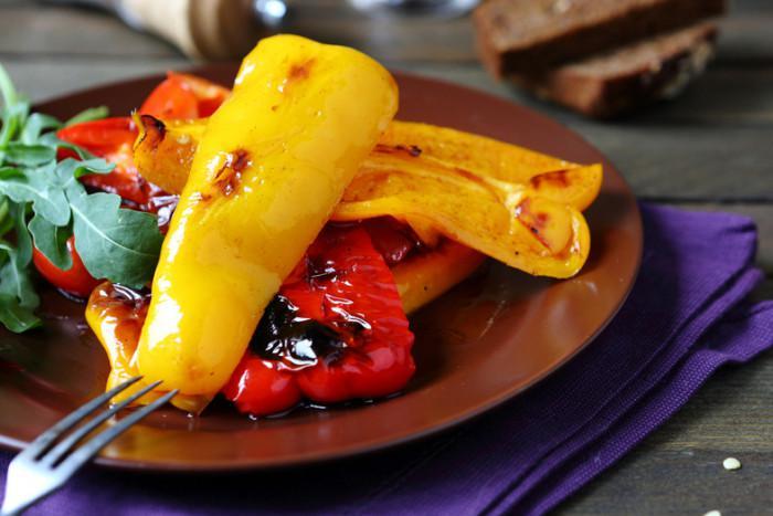 жареный перец в чесночном маринаде