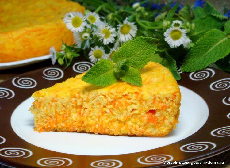 Творожно морковная запеканка в духовке диетическая