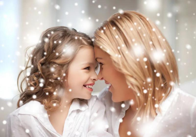 Анимация дочки матери, любви